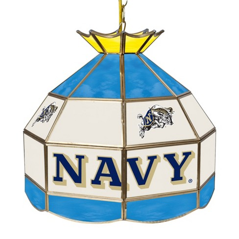 "NCAA United States Navy Stained Glass Tiffany Lamp - 16"" - image 1 of 1"