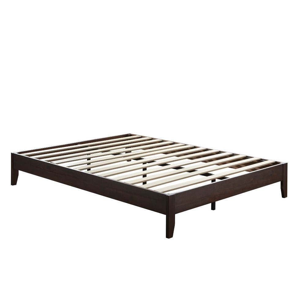 Match Queen Planform Bed Espresso (Brown) - Buylateral
