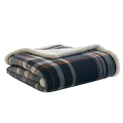 Horizon Bay Throw Blanket Navy - Eddie Bauer
