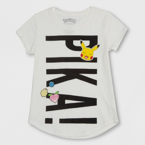 81f80329 Girls' Pokemon Pikachu Short Sleeve T-Shirt - Ivory : Target