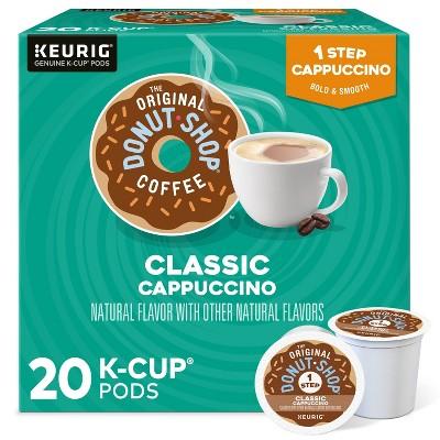 The Original Donut Shop Classic Cappuccino Dark Roast Coffee - Single Serve Pods - 20ct