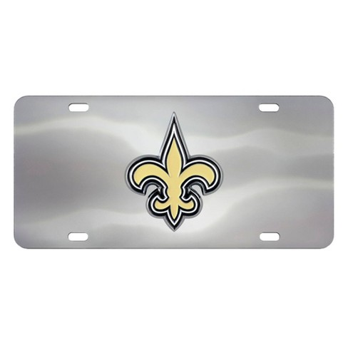 NFL New Orleans Saints Stainless Steel Metal License Plate - image 1 of 4