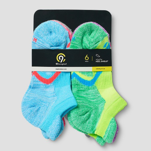 5abd54e6ff4 Girls  6pk Heel Shield Socks - C9 Champion® L   Target