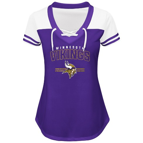 Discount Minnesota Vikings Women's Lace Up Fashion Top T Shirt : Target  hot sale