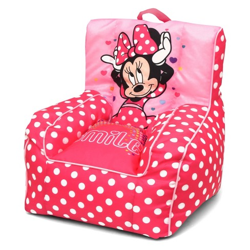 Minnie Mouse Toddler Bean Bag Chair With Handle Disney