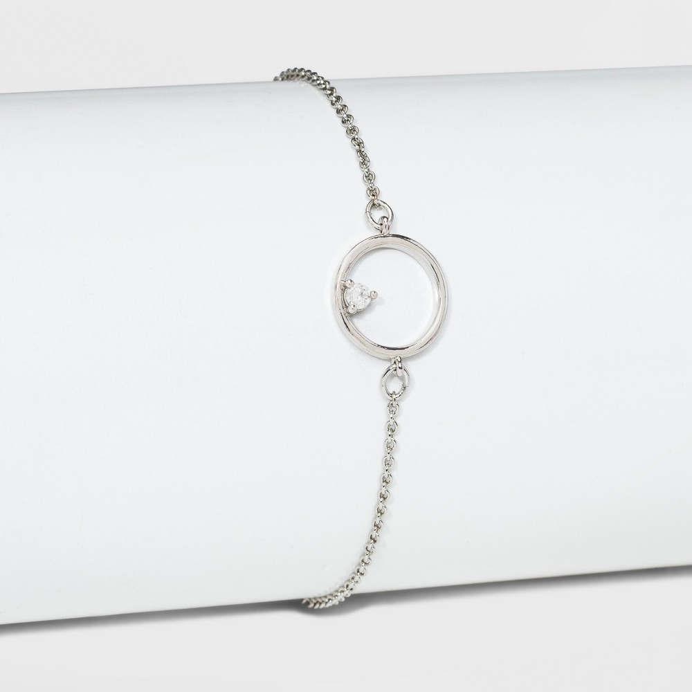 Cubic Zirconia Adjustable Bracelet - A New Day Silver
