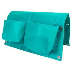 "17"" Rectangular Deck Rail 4-pocket Hanging Planter Bag - Bloem®"