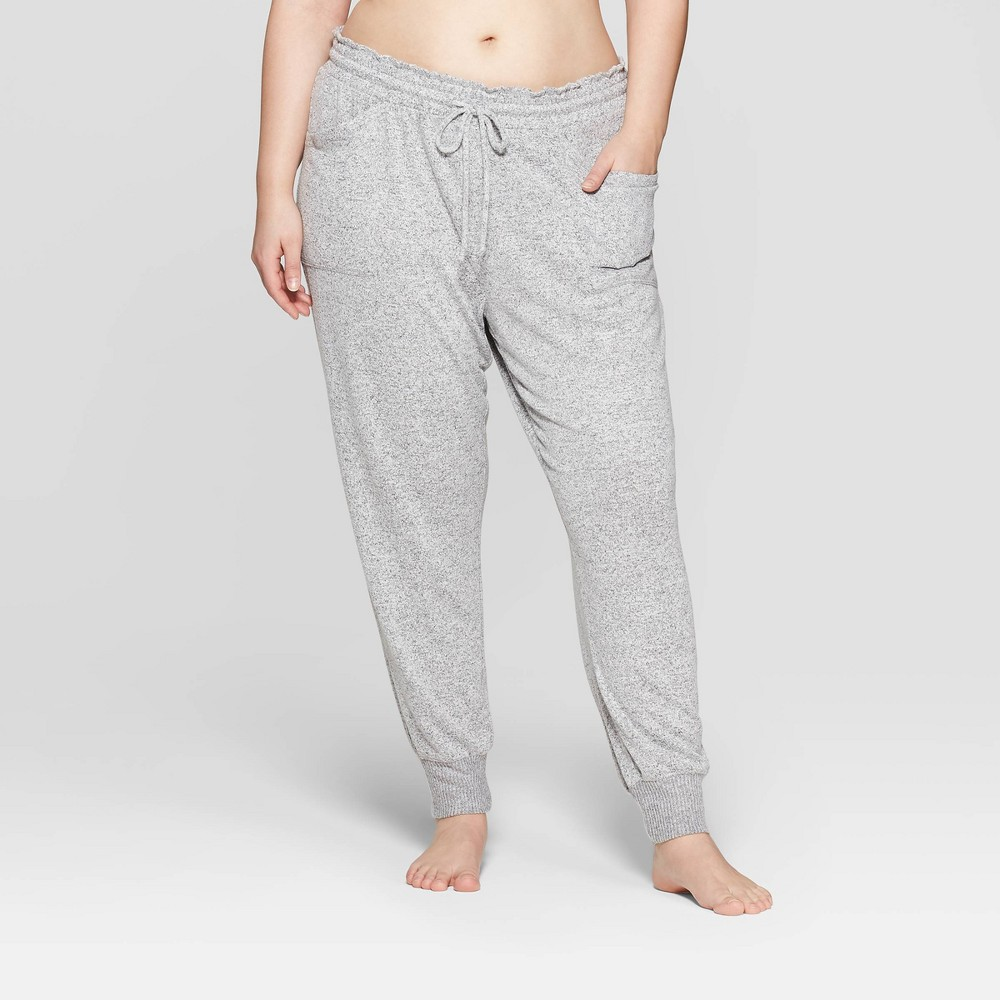 Women's Plus Size Perfectly Cozy Lounge Jogger Pants - Stars Above Gray 3X