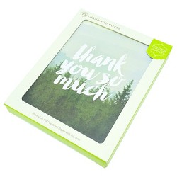 10ct Foggy Forest Thank You Card