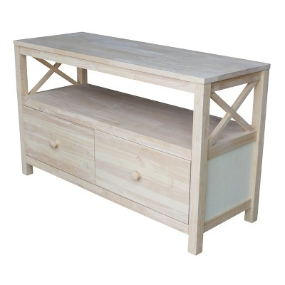 """Concepts TV Stand for TVs up to 48"""" Unfinished - International Concepts"""
