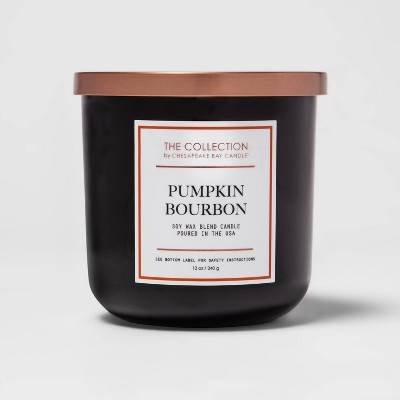 12oz Lidded Glass Jar 2-Wick Pumpkin Bourbon Candle - The Collection by Chesapeake Bay Candle