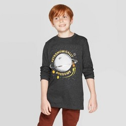 Boys' Long Sleeve Graphic T-Shirt - Cat & Jack™ Black