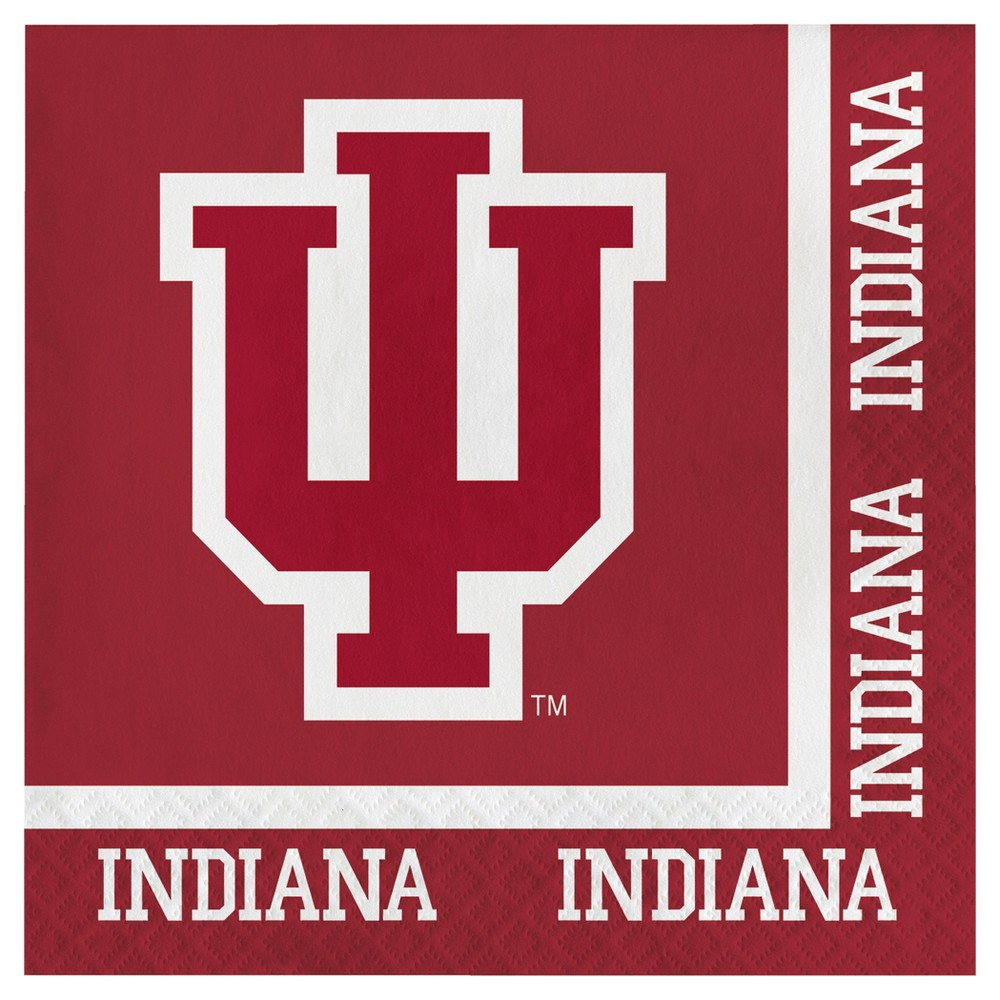 Image of 20ct Indiana Hoosiers University Napkins