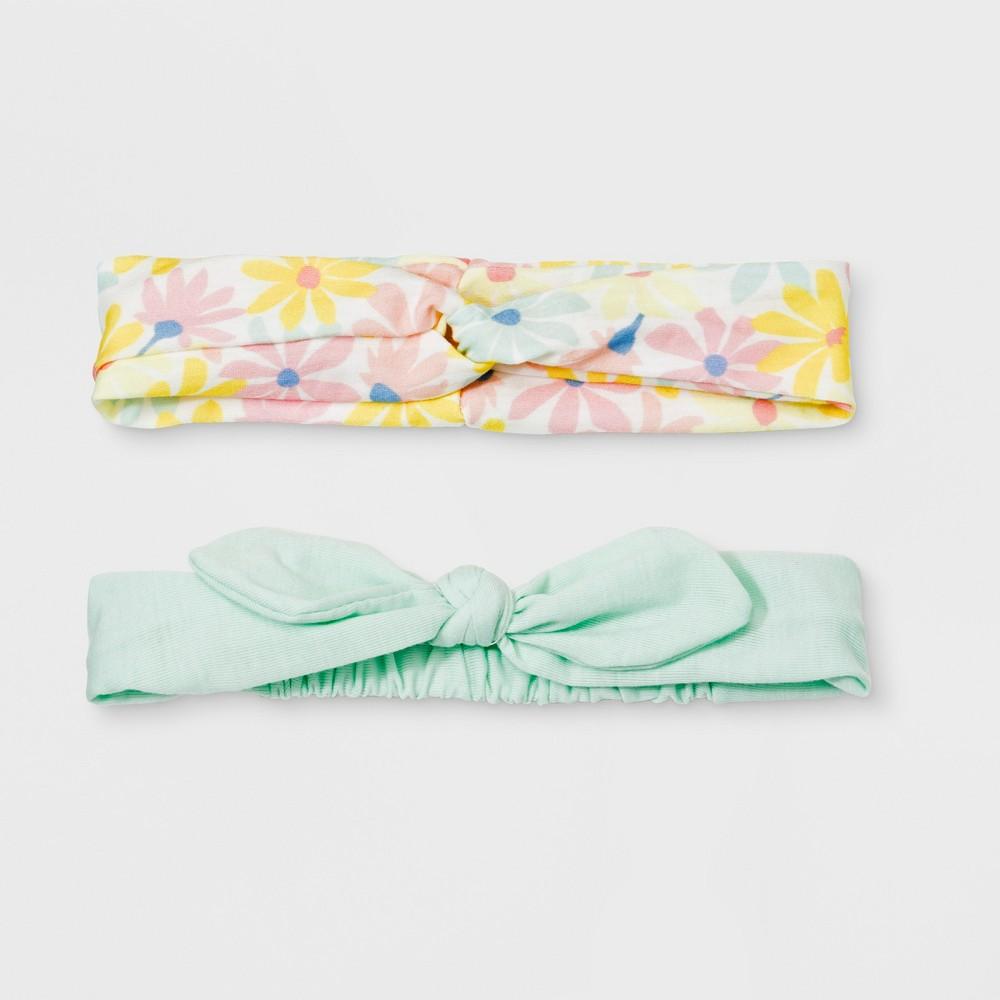 Girls' 2pc Headwraps - Cat & Jack Mint (Green)