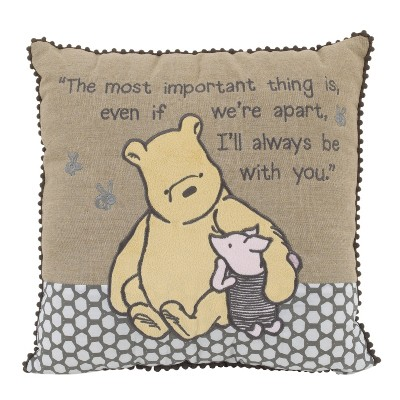 Disney Throw Pillow - Winnie the Pooh - Brown
