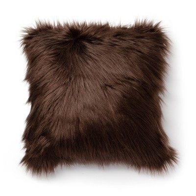"18""x18"" Greer Whisk Faux Fur Decorative Throw Pillow - SureFit"
