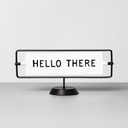 Miss You Already / Hello There Reversible Sign Sour Cream - Hearth & Hand™ with Magnolia