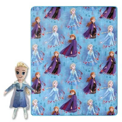 "Frozen 2 Elsa 40""x50"" Throw Blanket With Pillow"