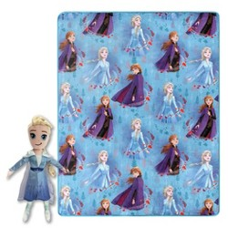 "Frozen 2 Elsa 40""x50"" Throw Blanket With Pillow"