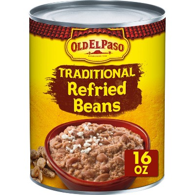 Beans: Old El Paso Traditional Refried Beans