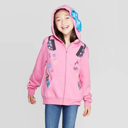 Girls' JoJo Siwa Hoodie - Pink - image 1 of 3