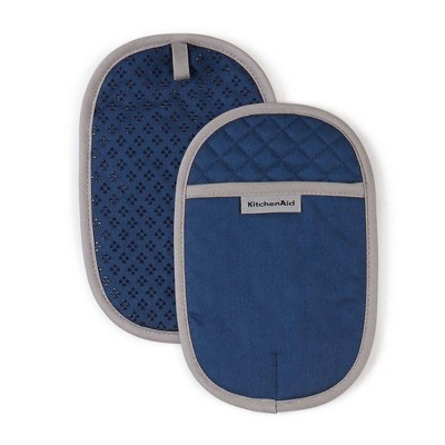 "KitchenAid 2pk 6.5""X10"" Asteroid Pot Holders Navy"