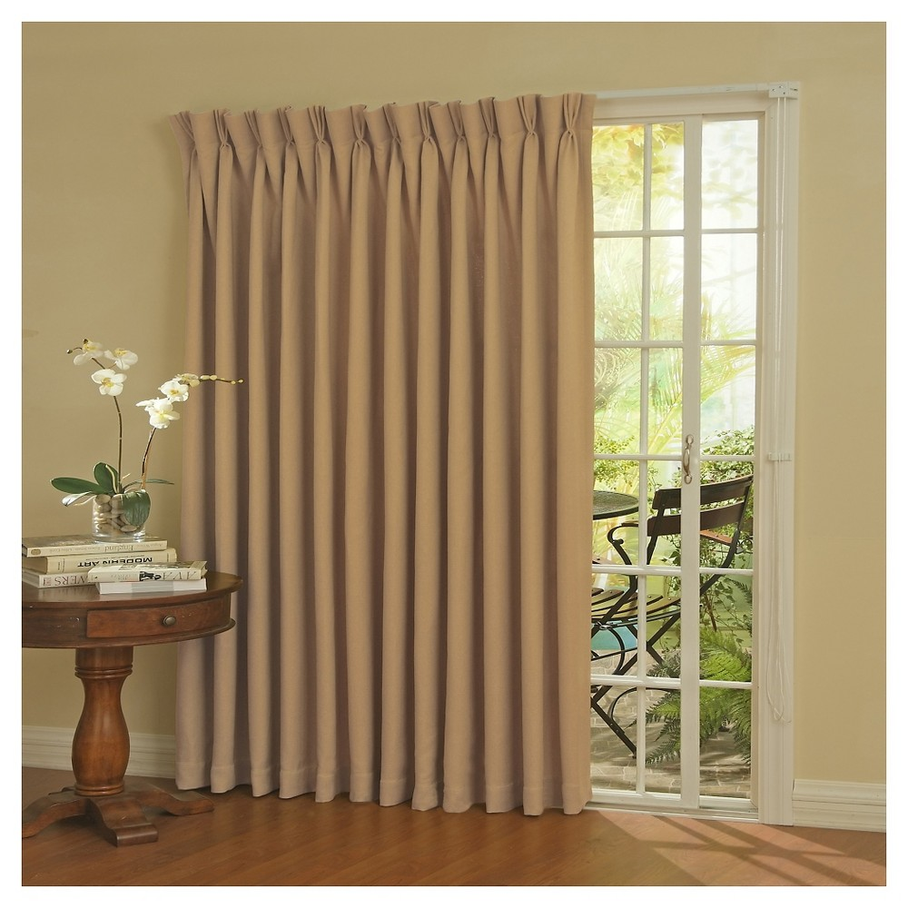"""84""""x100"""" Thermaweave Blackout Patio Door Curtain Panel Wheat - Eclipse"""