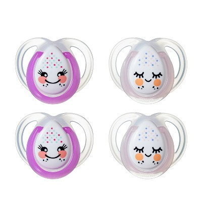 Tommee Tippee Night Time Orthodontic 2ct Pacifiers - 0-6m