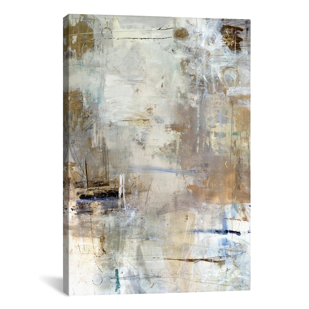 "Image of ""18""""x12"""" Asking for White by Julian Spencer Unframed Wall Canvas Print Biscotti Beige - iCanvas"""