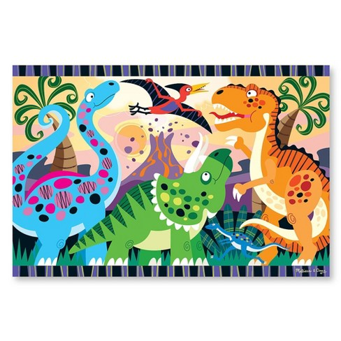 Melissa & Doug Dinosaur Dawn Jumbo Jigsaw Floor Puzzle (24pc, 2 x 3 feet) - image 1 of 3