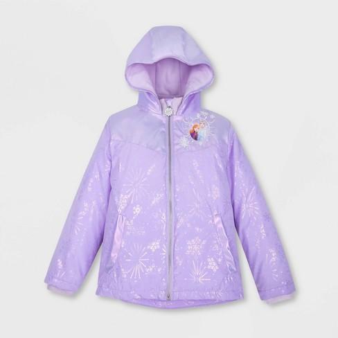 Girls' Disney Frozen 2 Rain Jacket - Purple - Disney Store - image 1 of 2