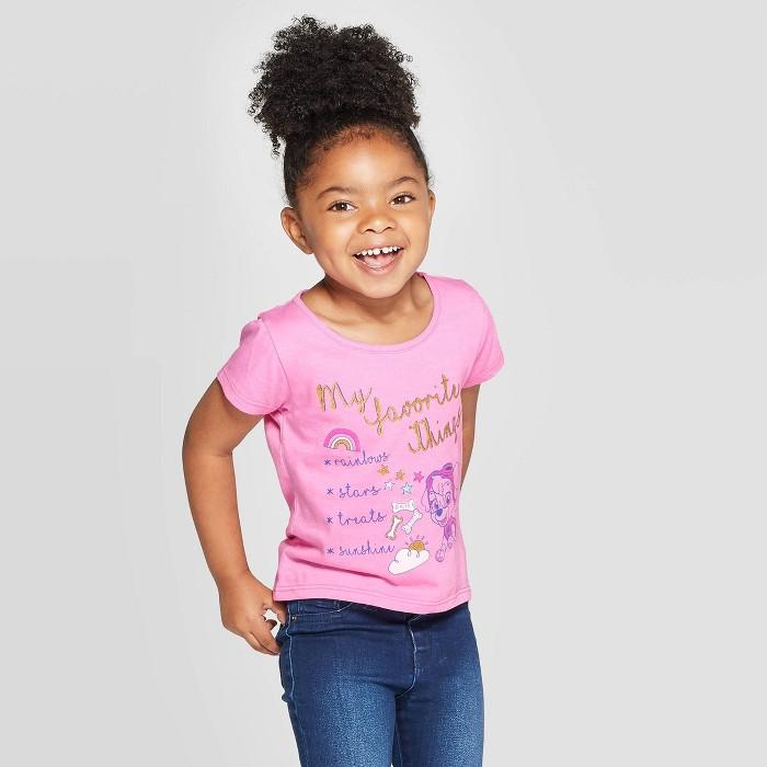 Toddler Girls' Paw Patrol Favorite Things Short Sleeve T-Shirt - Purple - image 1 of 3
