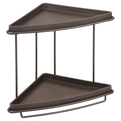 Free Standing Bathroom Vanity Corner Shelves-Bronze - InterDesign®