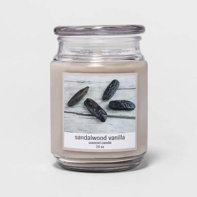 Glass Jar Sandalwood Vanilla Candle