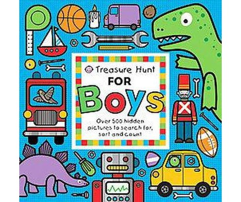 Treasure Hunt for Boys : Over 500 Hidden Pictures to Search For, Sort and Count (Hardcover) (Emma Surry - image 1 of 1