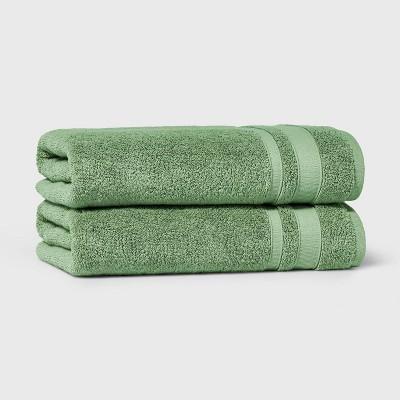 2pk Performance Bath Towel Set Green - Threshold™