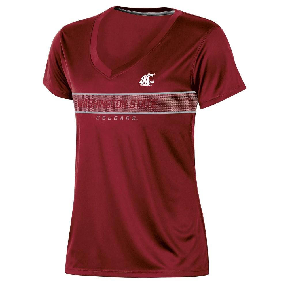 Washington State Cougars Women's Short Sleeve V-Neck Performance T-Shirt - S, Multicolored
