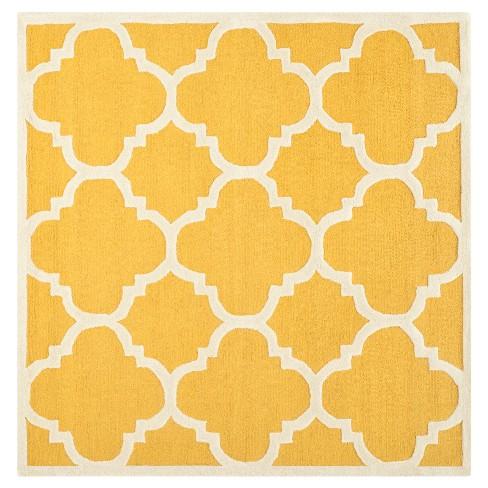 Landon Texture Wool Rug - Gold / Ivory (6' X 6') - Safavieh® - image 1 of 2