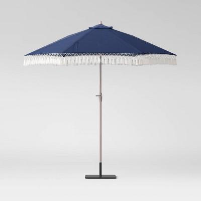 9' Round Patio Umbrella DuraSeason Fabric™ Navy - Threshold™