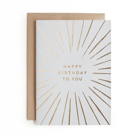 Minted Birthday Burst Card Target