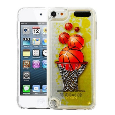 Valor Oil Aqualava Basketball Hard Plastic/Soft TPU Rubber Case Cover For Apple iPod Touch 5th Gen/6th Gen, Yellow
