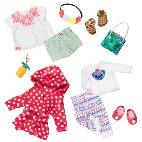 "Our Generation 2pk Deluxe Outfits for 18"" Dolls - Cuddles & Fun - image 1 of 4"