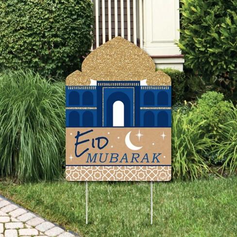Big Dot of Happiness Ramadan - Party Decorations - Eid Mubarak Welcome Yard Sign - image 1 of 4