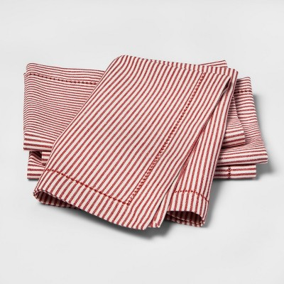 Candy Cane Stripe Napkins Red - Threshold™
