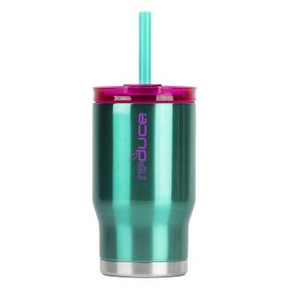 Reduce 14oz Stainless Steel Tumbler With Lid And Straw Teal/Purple