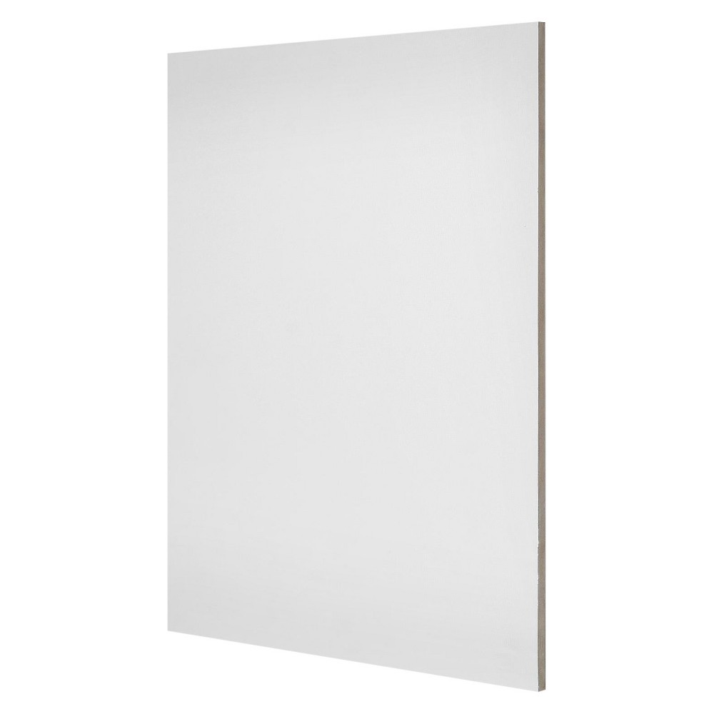 "Image of ""Ampersand The Artist Panel Canvas Texture Flat Profile, 12""""x12"""" - 2pk, White"""