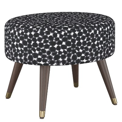 Farwell Oval Ottoman with Gold Caps - Project 62™