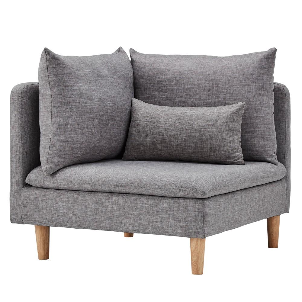 Eloise Mid-Century Modular Corner Chair - Gray - Inspire Q