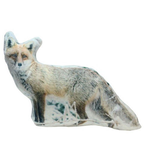 """Northlight 15.75"""" Fox in Snow Covered Woods Indoor Throw Pillow - White/Brown - image 1 of 2"""