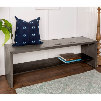"""58"""" Solid Rustic Reclaimed Wood Entry Bench - Saracina Home : Target"""